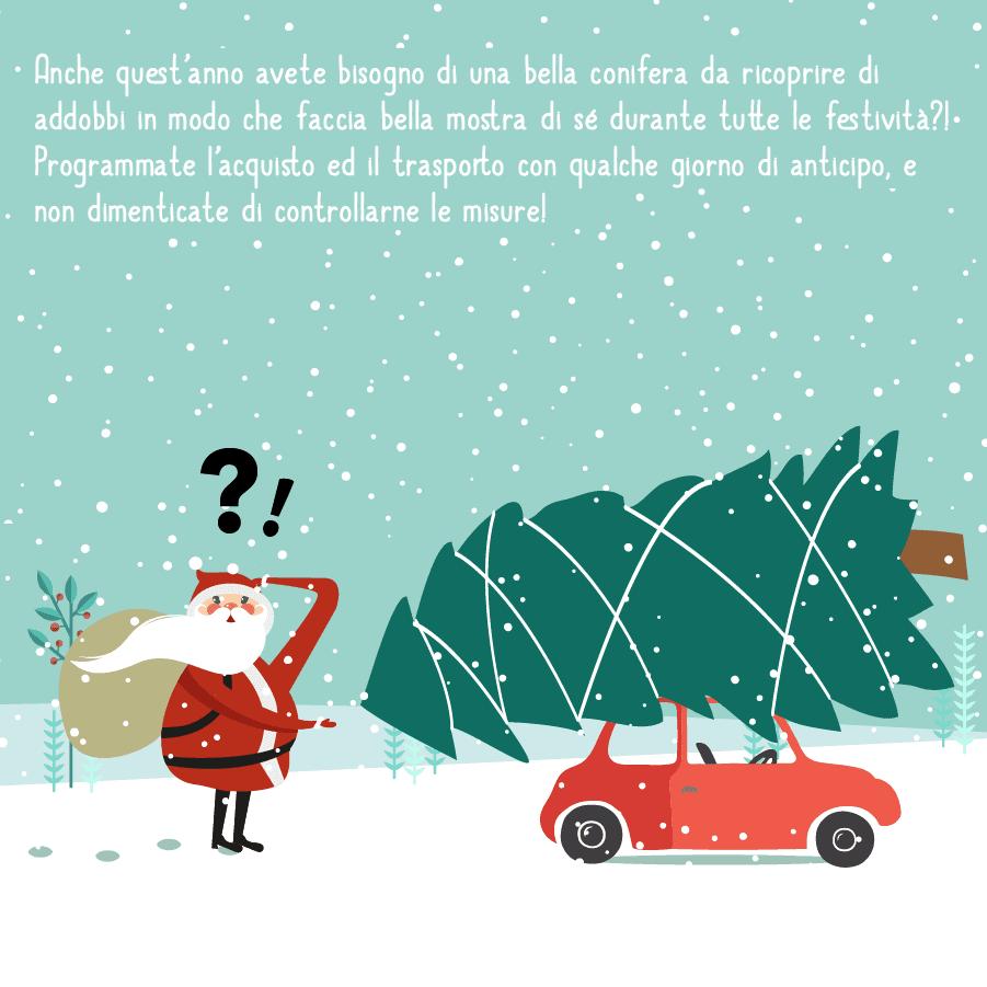Come trasportare un albero di Natale in auto 3