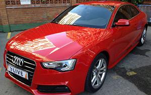 Audi rossa