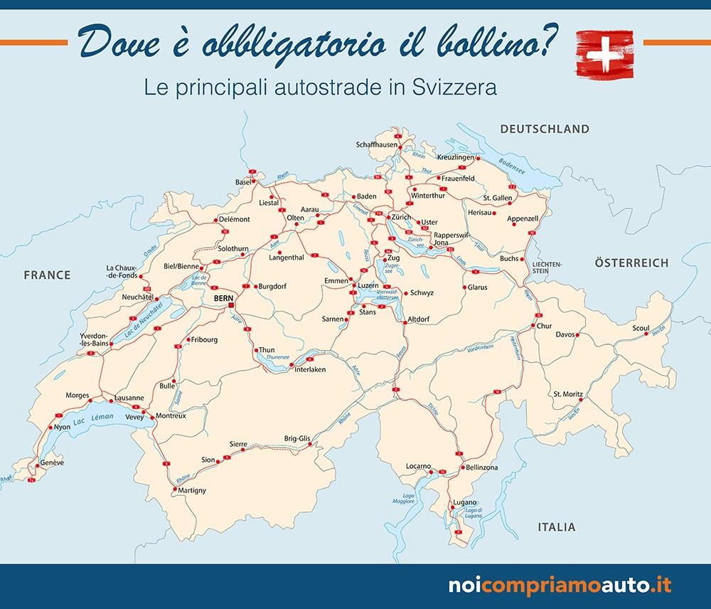 Cartina Autostradale Svizzera.Bollino Autostrada Svizzera Costo Durata E Dove Comprarlo