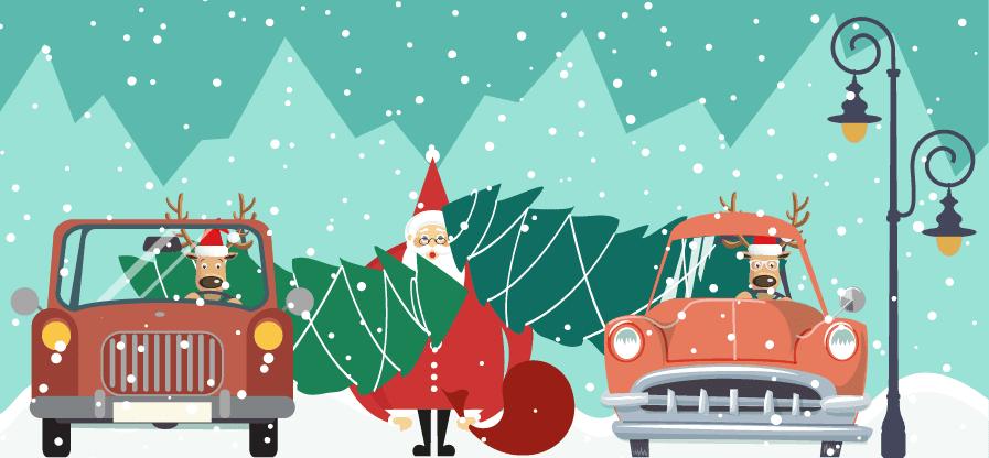 Come trasportare un albero di Natale in auto 1