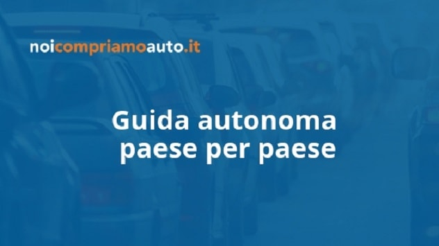 Guida autonoma: paese per paese